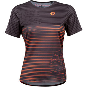 PEARL iZUMi Launch Top Manga Corta Mujer, phantom/fiery coral frequency